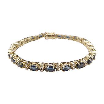 14 k bracelet diamond and Sapphire