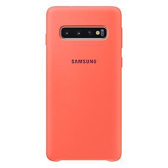 Samsung cover di silicone bacca rosa per Samsung Galaxy S10 G973F EF PG973THEGWW Borsa Custodia cover protettiva