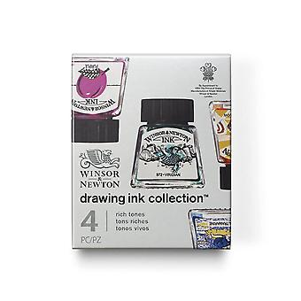 Winsor & Newton Drawing Ink Collection Rich Tones Set