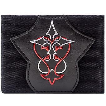 Kingdom Hearts punainen & hopea symboli ID & kaksoistaitos lompakko