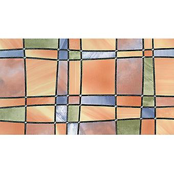 Stained Glass Window Fablon Wrap Self Adhesive Vinyl Film Stickyback 2m x 67.5cm