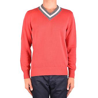 Brunello Cucinelli Ezbc002047 Men's Red Linen Sweater
