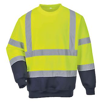 Portwest Mens Hi-Vis Two-Tone Sweatshirt (Pack of 2)