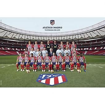 Atletico Madrid Poster Squad 66