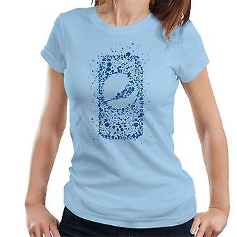 Pepsi Blue Splash können Damen T-Shirt