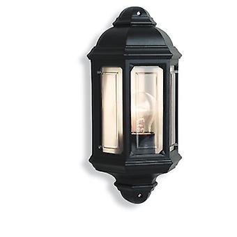 Firstlight-1 vaalea ulkoseinän valo musta IP44-8751BK