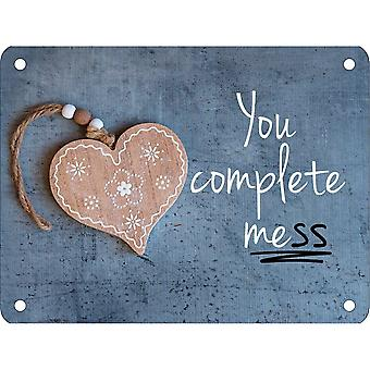 Grindstore You Complete Me(ss) Mini Tin Sign
