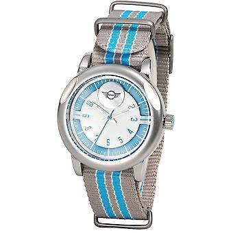 MINI Niche Sport Quartz Grey Canvas Strap Ladies Watch SM-021 43mm