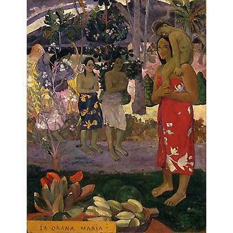 Ia Orana Maria, Paul Gauguin, 50x40cm Ia Orana Maria, Paul Gauguin, 50x40cm