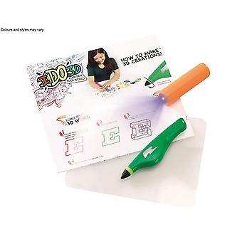 Ido3d Single Pen Starter Set - Green Fun With Words
