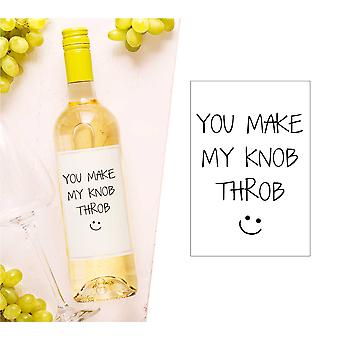 Vous faites mon Knob Throb Wine Bottle Label