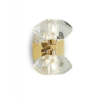 Mantra Alfa Wall Lamp Switched 2 Light G9, French Gold