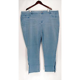 Hot in Hollywood by Laurie Felt Pull-On Ankle Jeans w/ Zipper Style # A279104