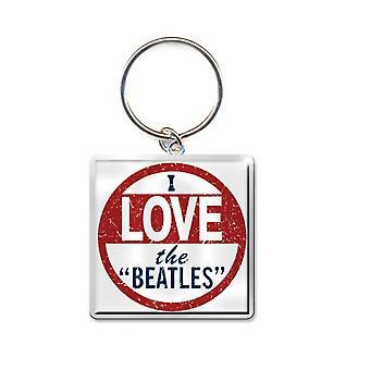 Ich liebe die Beatles neue offizielle Beatles Schlüsselanhänger Keychain