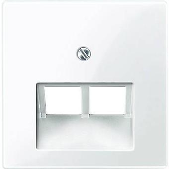 Merten Cover UAE socket System M Polar white glossy 296119