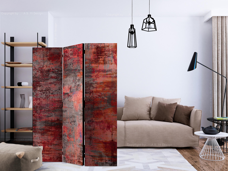 Paravent 3 volets - Red Metal [Room Dividers]