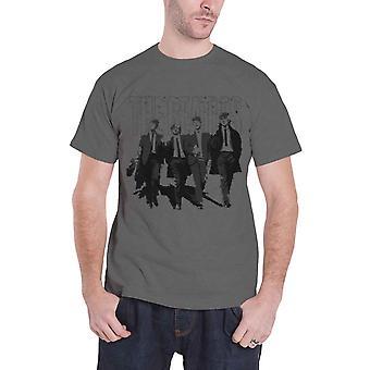 The Beatles mens T shirt Grey Walking i London nödställda band logo officiella