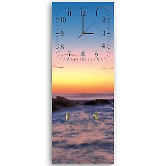 Decorative clock with hanger, Sunset, rocks
