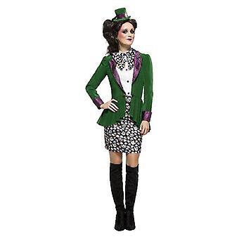 Womens eccentrico Cappellaio Fancy Dress Costume