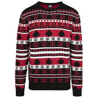 Urban Classics Men's Sweater Snowflake Christmas Tree