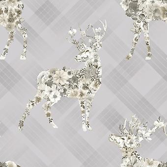Holden Floral Elk Wallpaper