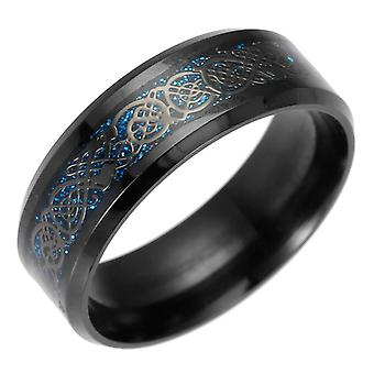Vintage gold dragon stainless steel lord wedding ring for men