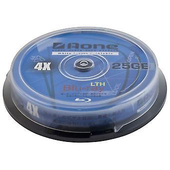 Aone 4 x escribir 25GB blanca Full Face imprimible Blu-Ray en blanco discos 10pcs pastel caja/huso BD-R (Bluray 10 Pack tina)