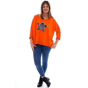 Made In Italy Selsey Sequin Cotton Star Jumper