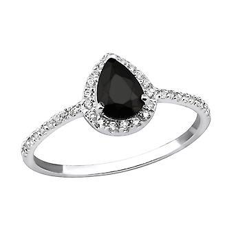 Teardrop - 925 Sterling Silver Cubic Zirconia Rings - W31159x