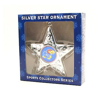 Kansas Jayhawks NCAA Sports Collectors Series Silver Star Ornament