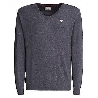 GISSA Alabama V-hals ull blandning tröja