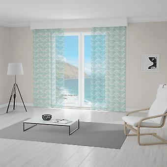 Meesoz Net Curtain - Endless Waves Turquoise