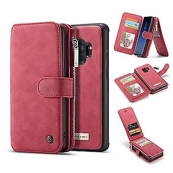 Case For Samsung Galaxy S9 Red Multifunction Portfolio