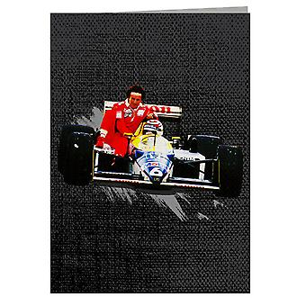Motorsport Images Nelson Piquet Honda Gives Alain Prost A Lift German GP Greeting Card