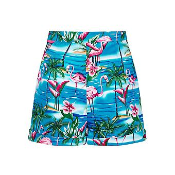 Collectif Vintage Women's Ayana Flamingo Island Shorts