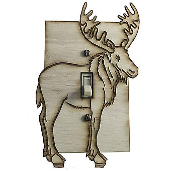 Moose switch plate - raw wood - 4.0