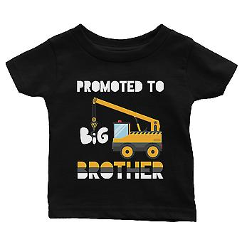 Promoted To Big Brother Pregnancy Announcement Baby Gift Tee Black