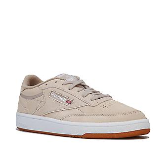 Womens Reebok Classics Club C 85 Trainers In Light Sand / White