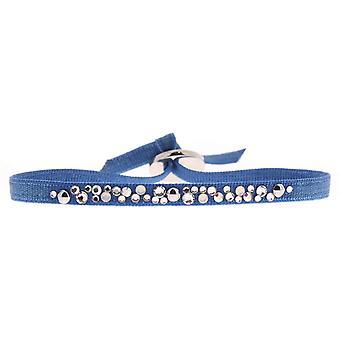 Bracelet interchangeable A41179 - fabric steel blue woman Bracelet