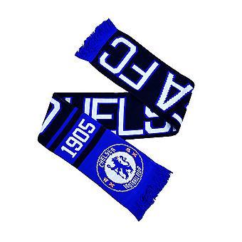 Chelsea FC Official Football Jacquard Nero Design Scarf