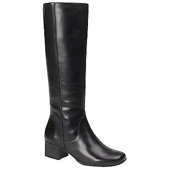 Walking Cradles Womens Elite Leather Almond Toe Knee High Fashion Boots