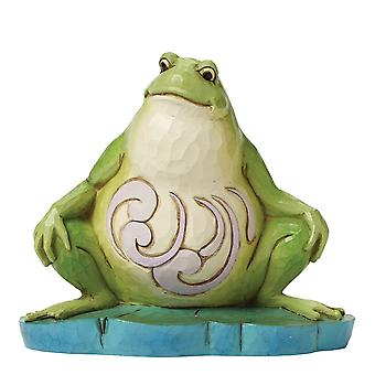 Jim Shore Heartwood Creek I Eat What Bugs Me Small Lazy Frog Figurine