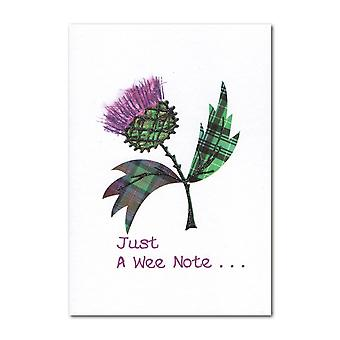Embroidered Originals Just A Wee Note... Tartan Thistle