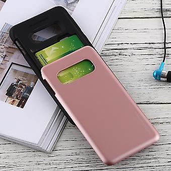 For Samsung Galaxy S10e Case Rose Gold Sky Slide Bumper TPU + PC Cover
