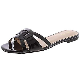 ALDO Womens Astirassa Metallic Faux Leather Flat Sandals