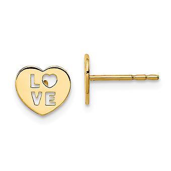 14k Madi K Love Heart Post korvakorut korut lahjat naisille - 0,5 grammaa