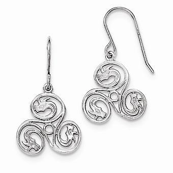 925 Sterling Silver Polished Dangle Shepherd Hook Earrings Jewelry Gifts for Women