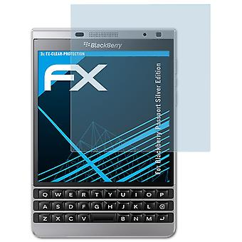 atFoliX Glass Protector compatible with Blackberry Passport Silver Edition 9H Hybrid-Glass
