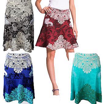 Desigual Women's Lace Print A-Line Brigitte Skirt