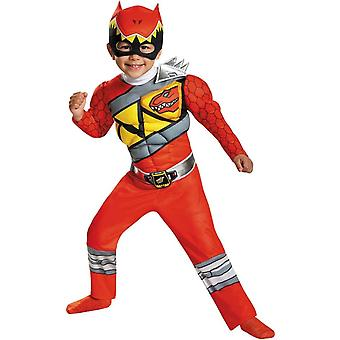 Dino Rode Ranger peuter kostuum